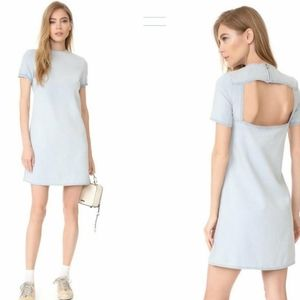 Cut-Out Back Crew-Neck Casual Dress